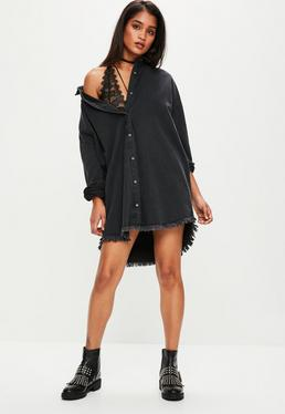black-oversized-denim-shirt